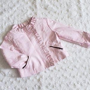 OshKosh B'gosh Pink & White Pleather Jacket